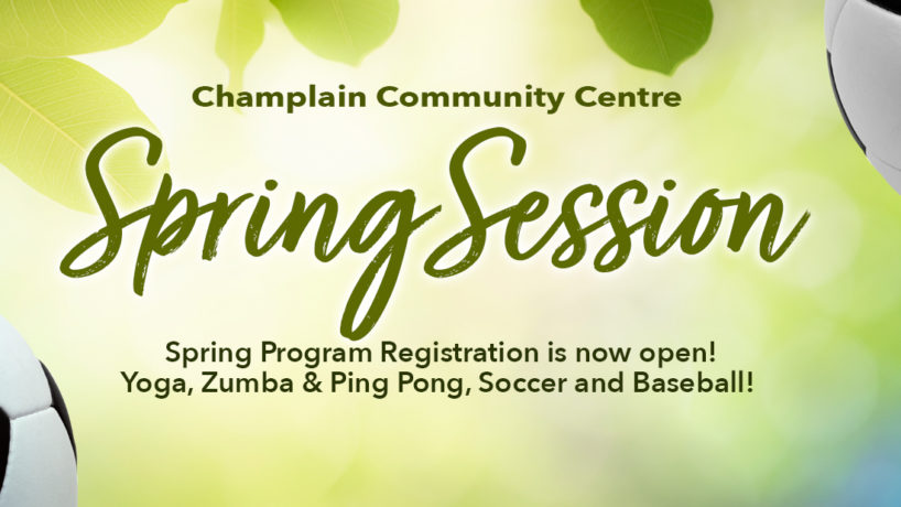 Spring Registration is now open.